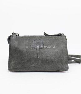 Bear Design Portemonnaie Tasche XL 'Uma' - Grau/Blau CP30996