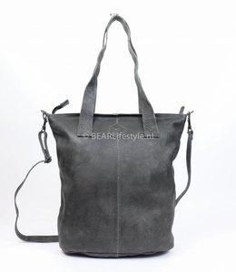 Bear Design Shopper mit Schulterband - Grau/Blau CP2087