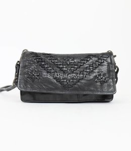Bear Design Portemonnaietasche CL13995 Schwarz 'Stitch'
