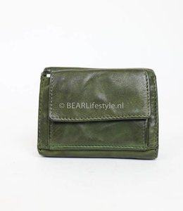 Bear Design Mini Portemonnee CL14915 Olijf Groen