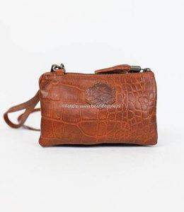 Bear Design Portemonnaie/-tasche CP4887 Croco Cognac