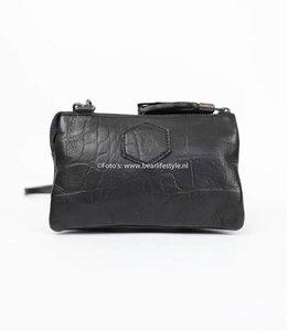 Bear Design Portemonnaie/-tasche CP4887 Croco Schwarz