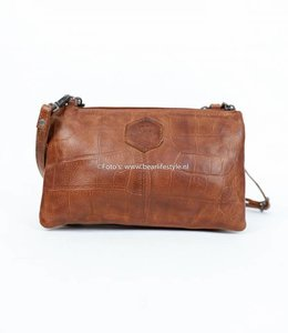 Bear Design Portemonnee tasje XL CP30996 - Croco Cognac 'Uma'