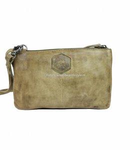 Bear Design Portemonnaie Tasche XL 'Uma' - Olivgrün CP30996