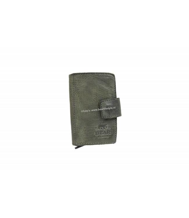 Bear Design CL15254 Mini Portemonnee RFID - Grijs Figuretta