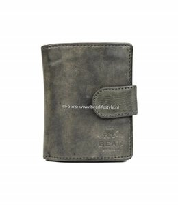 Bear Design CL15253 Anti Skim Wallet met Ritsvak - Grijs Figuretta