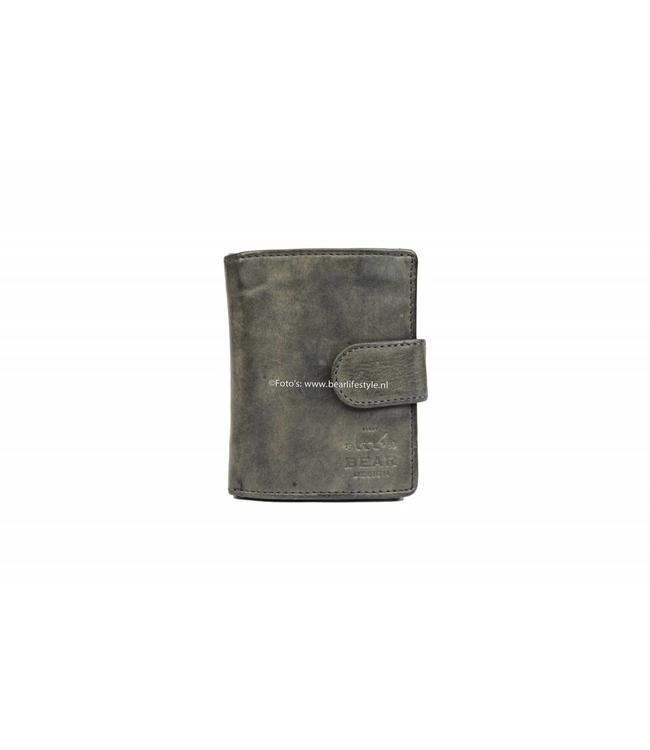 Bear Design CL15253 Anti Skim Wallet met Ritsvak - Grijs Figuretta