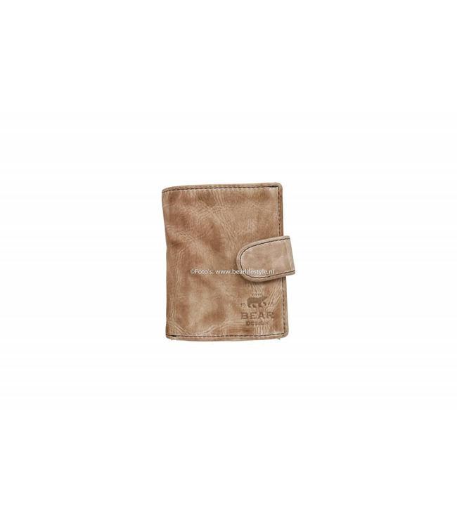 Bear Design CL15253 Anti Skim Wallet met Ritsvak - Hazelnut Figuretta