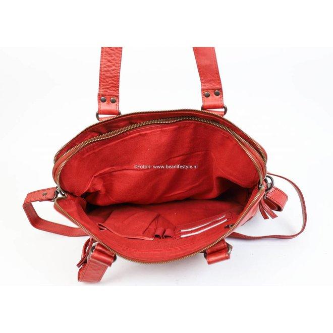 Handtasche 'Lia' Doppelreißverschluss - CL35220 Rot