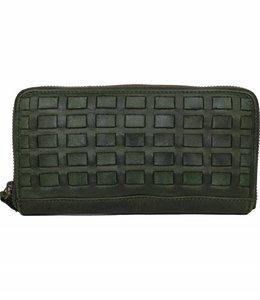 Bear Design Ritsportemonnee New Woven - Groen CL13994N