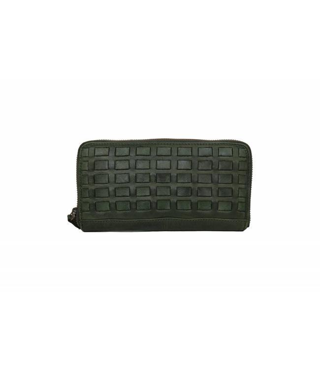 Bear Design Geldbörse CL13994 geflochten Grün