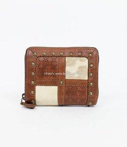 Bear Design Klein rits portemonnee Grizzly 11414 Cognac
