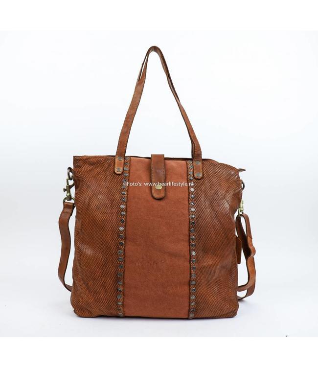 Bear Design Shopper/Schoudertas Grizzly 7151 Cognac