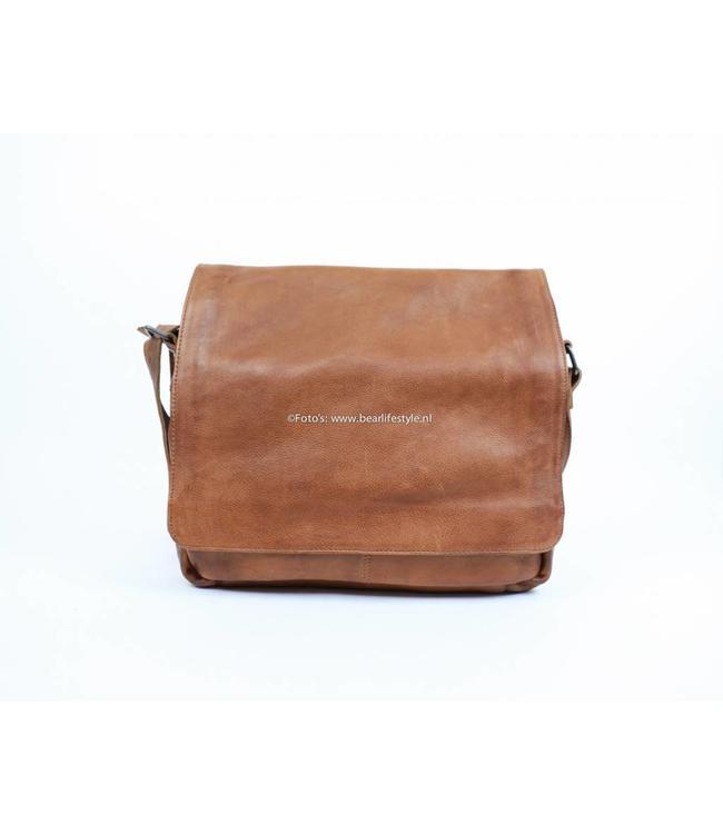 Bear Design Messenger bag CP1484 Cognac