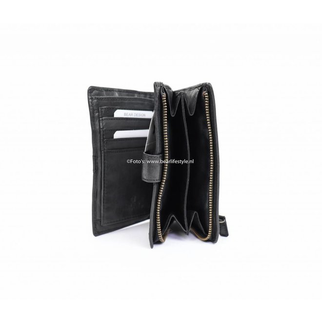 Dames portemonnee 'Studs' - Zwart CL 15087