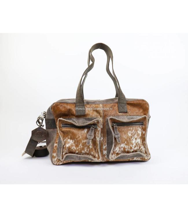 Bear Design Hand/Schoudertas Cow - middelmaat HH3032-1 Bruin