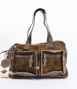 Bear Design Hand/Schoudertas Cow - middelmaat HH3032-7 Bruin