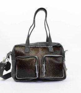 Bear Design Hand/Schoudertas Cow - Klein HH3030 Zwart
