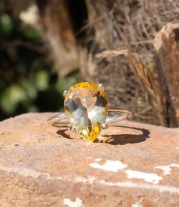 Josephina Citrine Exclusive - sterling silver ring