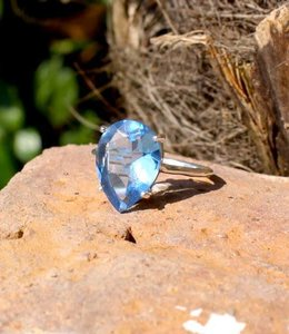 Josephina Blue Topaz Exclusive - sterling silver ring