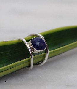 Josephina Lapis Cut - sterling silver ring