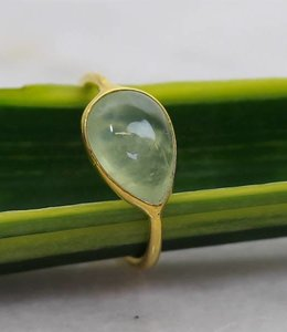 Josephina Prehnite Drop - Gold plated ring