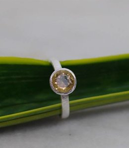 Josephina Classic Citrine Cut - sterlig silver ring