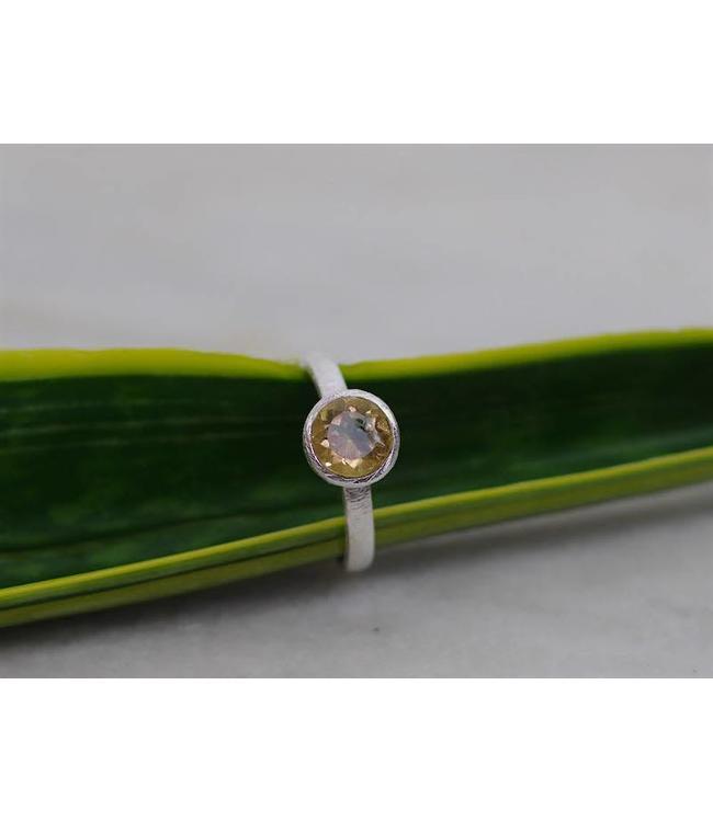 Josephina Classic Citrine Cut - sterlig silver ring