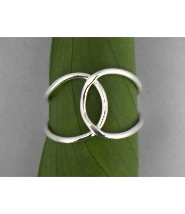 Josephina Double silver - sterling silver ring