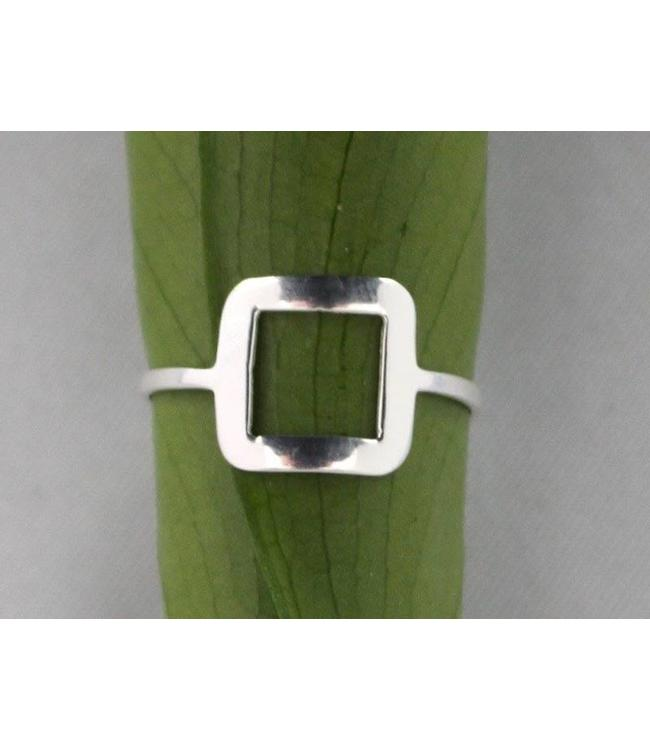 Josephina Silver Square - sterling silver ring