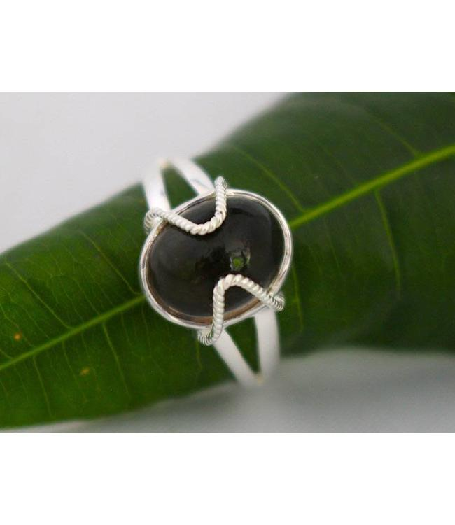 Josephina Smokey Quartz - sterling silver ring