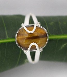 Josephina Tiger Eye - sterling silver ring