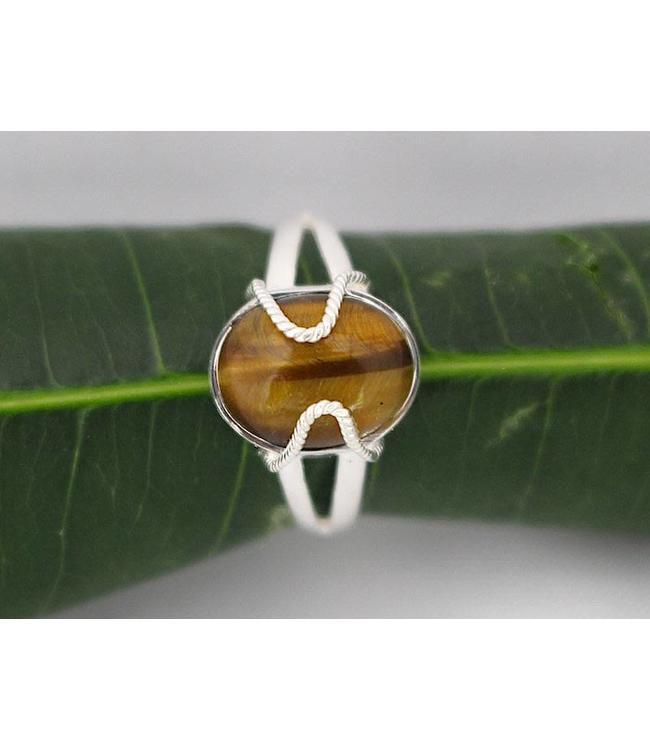 Josephina Tiger Eye - sterling silver ring