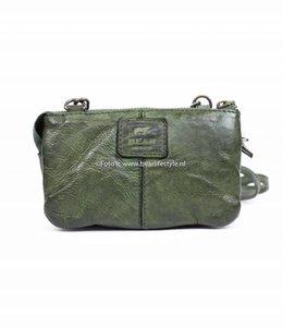Bear Design Portemonnee-/Schoudertasje 'Umi' - Groen CL4887