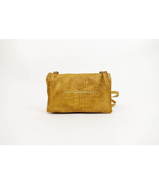 Bear Design Portemonnee tasje XL CP30996 - Croco Geel 'Uma'