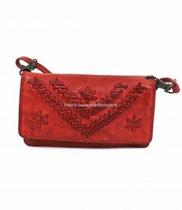 Bear Design Portemonnaietasche CL13995 Rot 'Stitch'