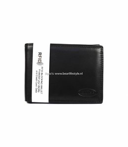 Bear Design Chique Billfold Anti-skim - Zwart M7254