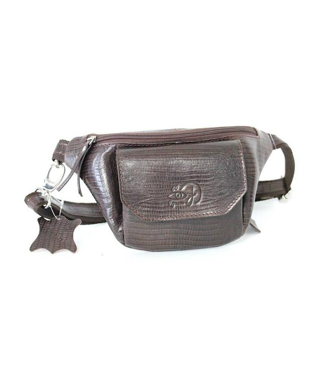 Josephina Brown Lizard Fanny Pack