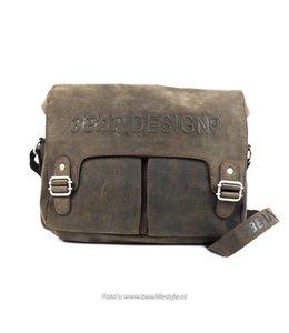 Bear Design Umhängetasche mit Klappe - YN4654 Braun