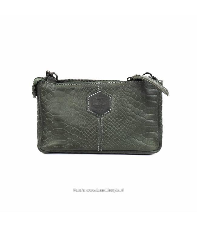 Bear Design Clutch / Tasche 'Martina' Blau - Phyton 1534