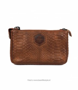 Bear Design Clutch/Tasje 'Martina' Cognac - Phyton 1534
