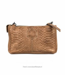 Bear Design Clutch/Tasje 'Martina' Taupe - Phyton 1534