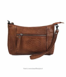 Bear Design Clutch / Tasche 'Caterina' Cognac - Phyton 1538