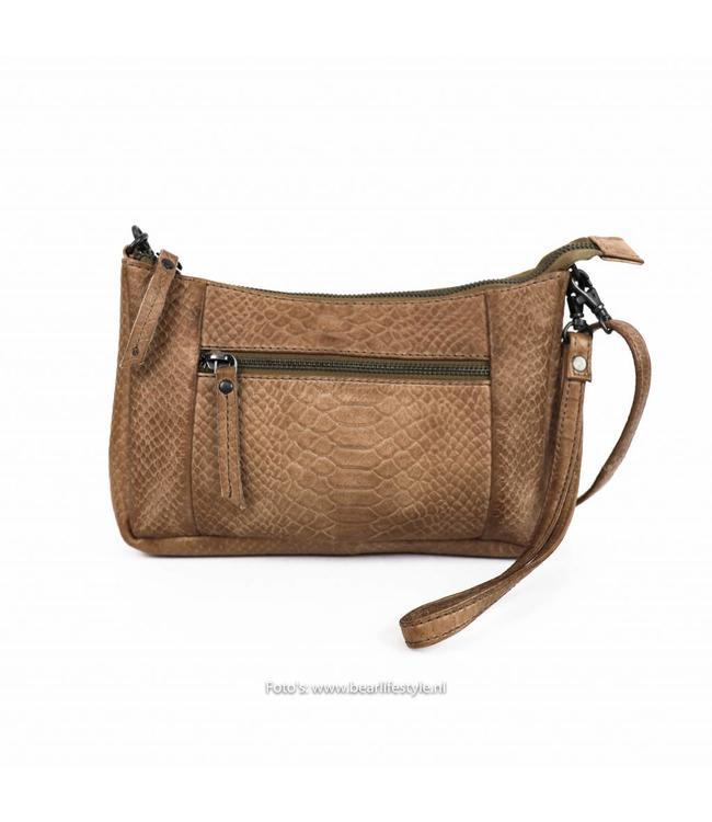 Bear Design Clutch/Tasje 'Caterina' Taupe - Phyton 1538