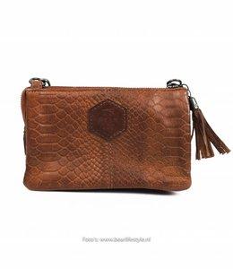 Bear Design Portemonnee/tasje 'Umi' Cognac - Phyton 1493