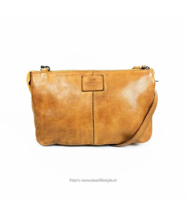 Bear Design Portemonnee tasje XL 'Uma' - Okergeel CL30996