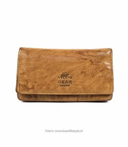 Bear Design Damen Geldbörse Klassik CL782 Beige