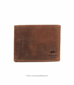 Bear Design Billfold VG13552 Cognac