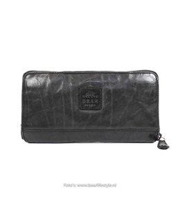 Ruime rits portemonnee - Zwart CL14898