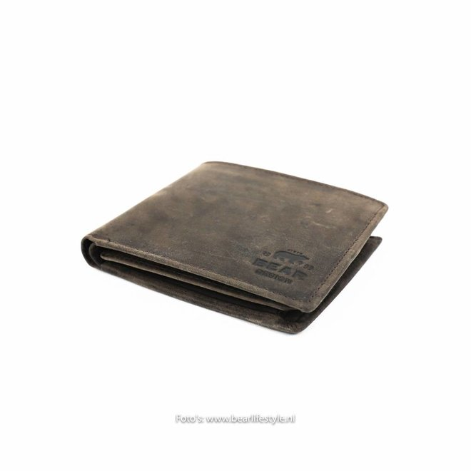 Kleine Billfold  'Tom'  - Donkerbruin HD 8731